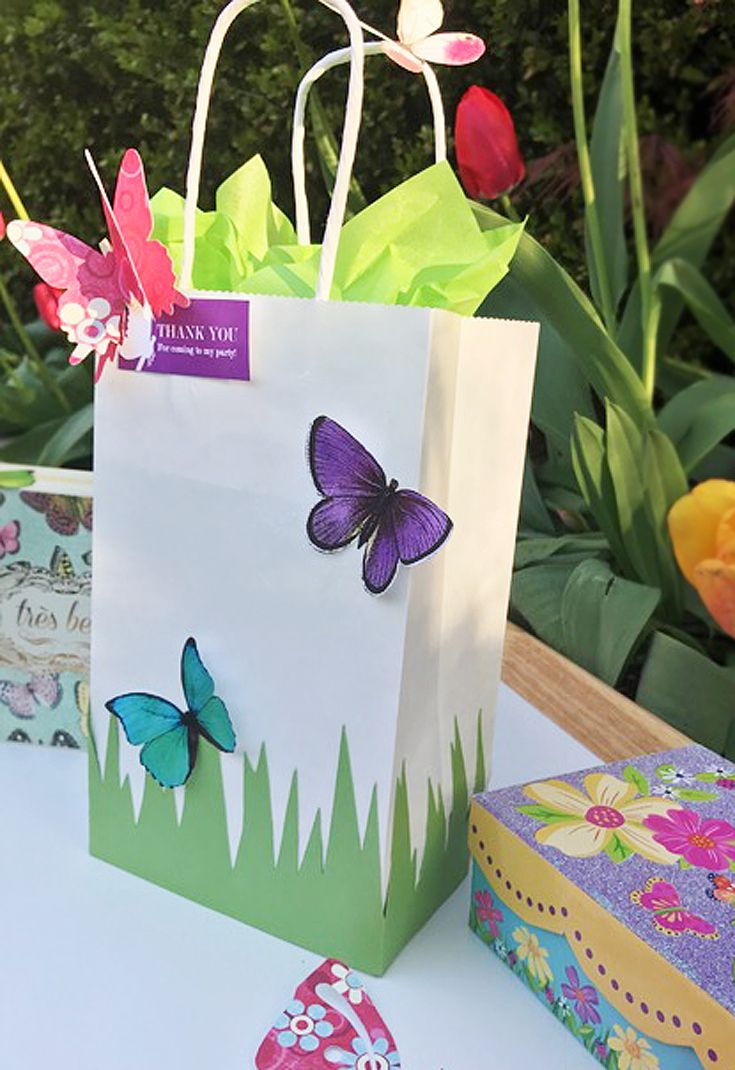 DIY Butterfly Party Favor - Free Printable