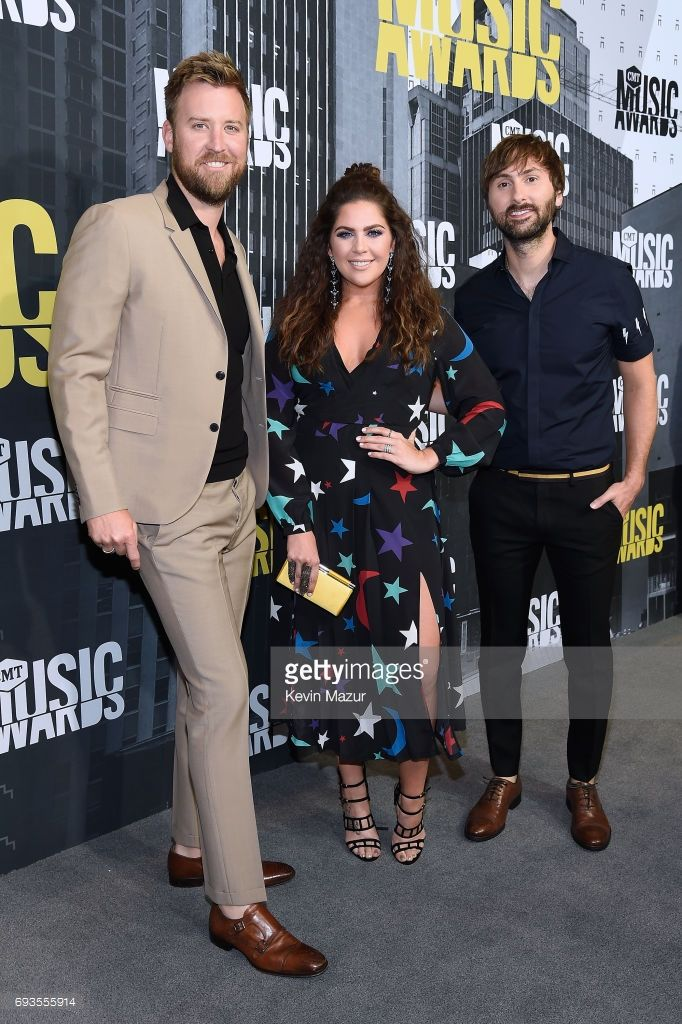 Charles Kelley, Hillary Scott and Dave Haywood of Lady Antebellum attends the 2017 CMT Music Awards at the Music City Center on June 7, 2017 in Nashville, Tennessee.