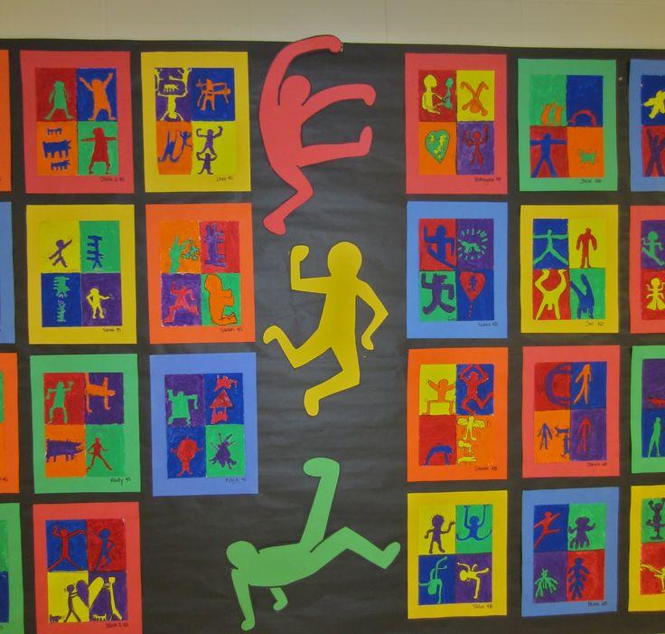 Keith Haring inspired art -grade 4