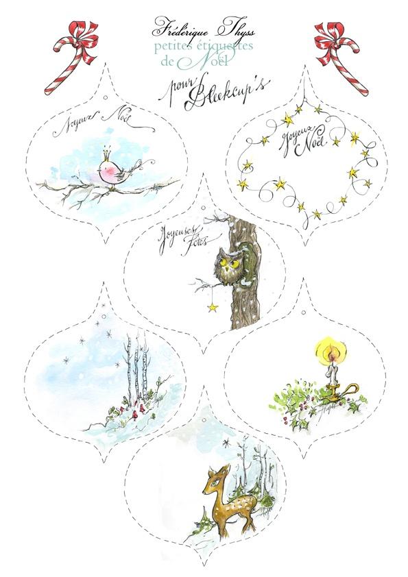 Etiquettes de Noël à imprimer - Bleekcup's