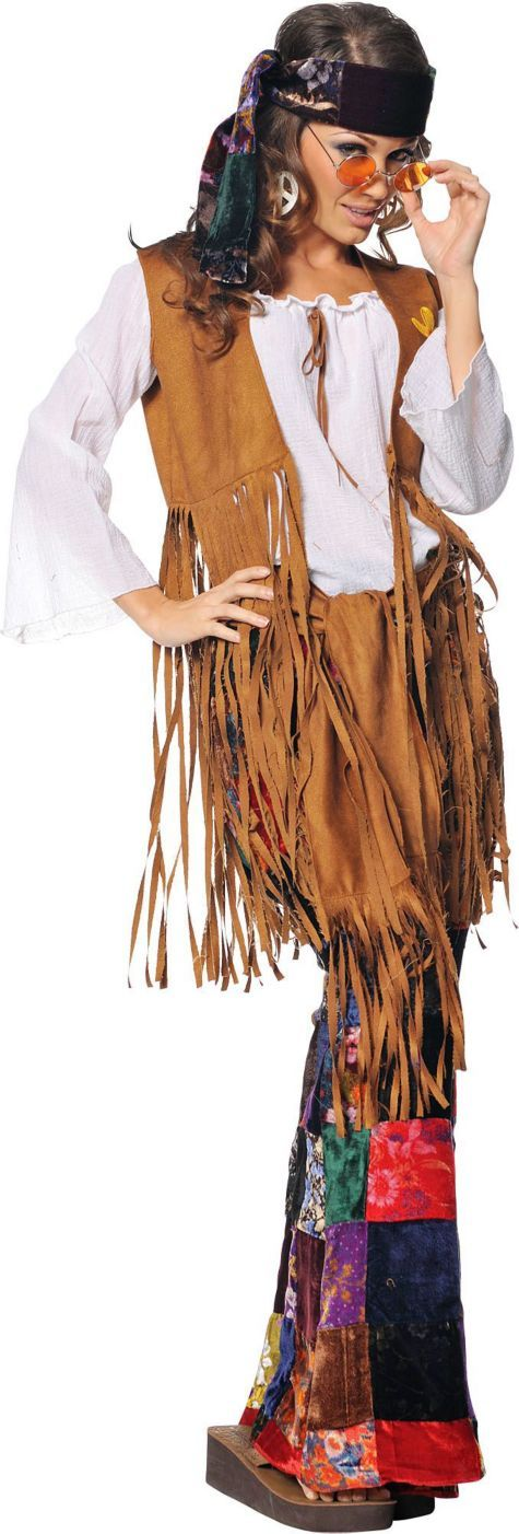 Peace Out Hippie Costume for Adults - Halloween City