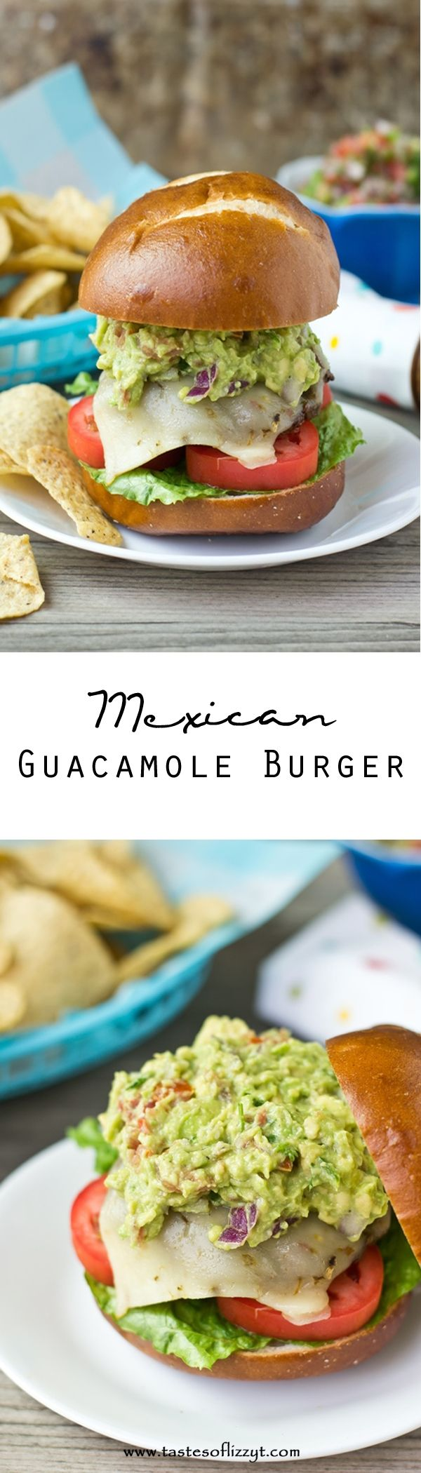Mexican Guacamole Burgers. If you love guacamole, you'll love these Mexican Guacamole Burgers. They've got Mexican seasoning baked inside and homemade guacamole on top!