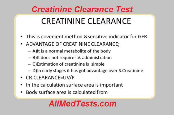 Creatinine Clearance Test: Principle, Procedure & Results