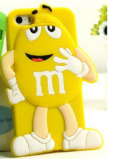 iPhone 5/5S - Mr. Macho 3D M&M's Soft Case in Assorted Colors