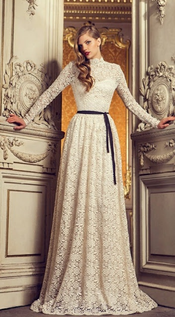 love these full-length sleeves....so beautiful! I need this dress in my life!