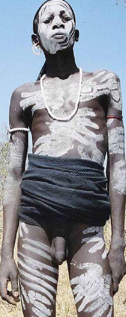 Africa African Mursi Boy Body Painting,Ethiopia,Oma Valley,Nuba,Suri Dinka Men,Himba People of Africa,Tribes African boy Body painting.AFRICA