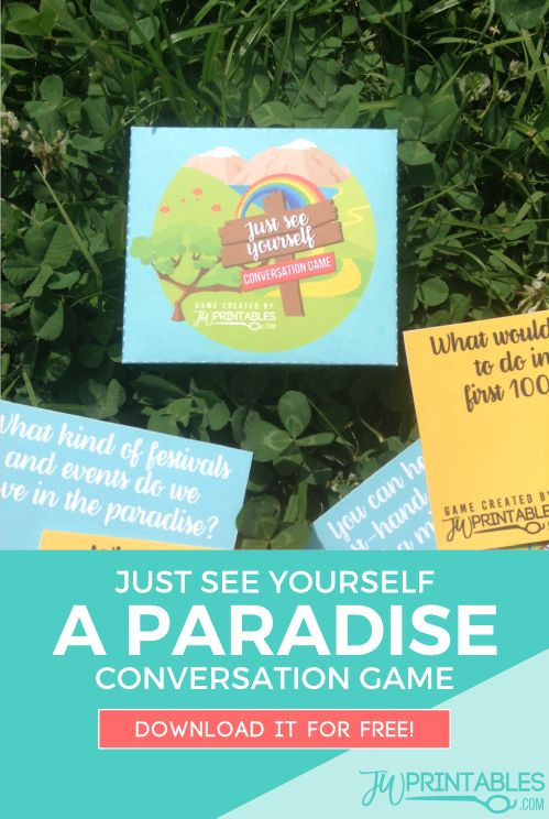 Just See Yourself - A Paradise Conversation Game - JW Printables