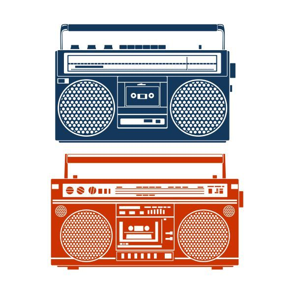 Library of 80 s boombox graphic royalty free png files ▻▻▻ Clipart Art 2019