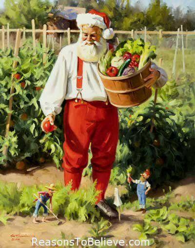 Gardening Santa