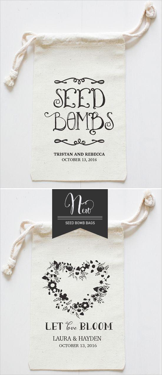 seed bomb bags for wedding favor ideas #diy #weddingfavors #weddingchicks http://www.weddingchicks.com/2014/04/09/diy-seed-bomb-wedding-favor/