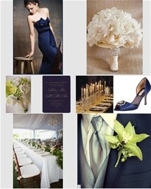 Midnight Blue...Wedding Inspiration Board I made on The Knot