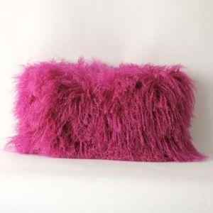 Hot Pink Tibetan Lamb Pillow $195.oo