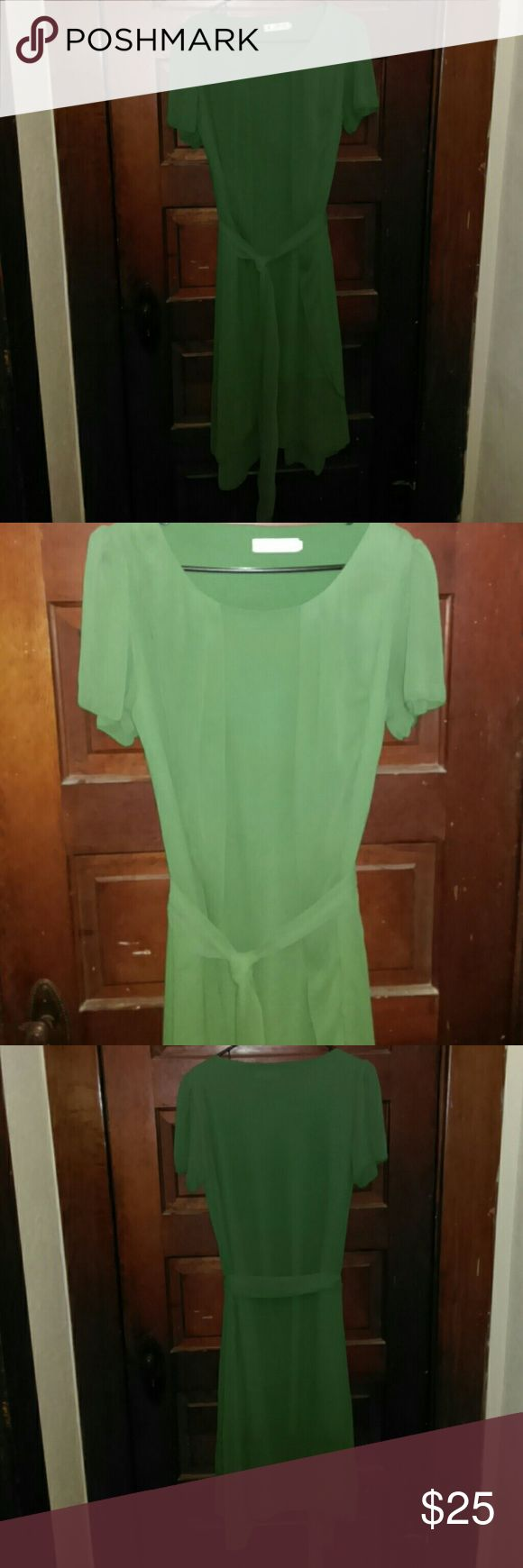 Kelly Green Dress NWOT Beautiful Kelly Green Dress. Can be worn casually, or semi-formally. CL Dresses