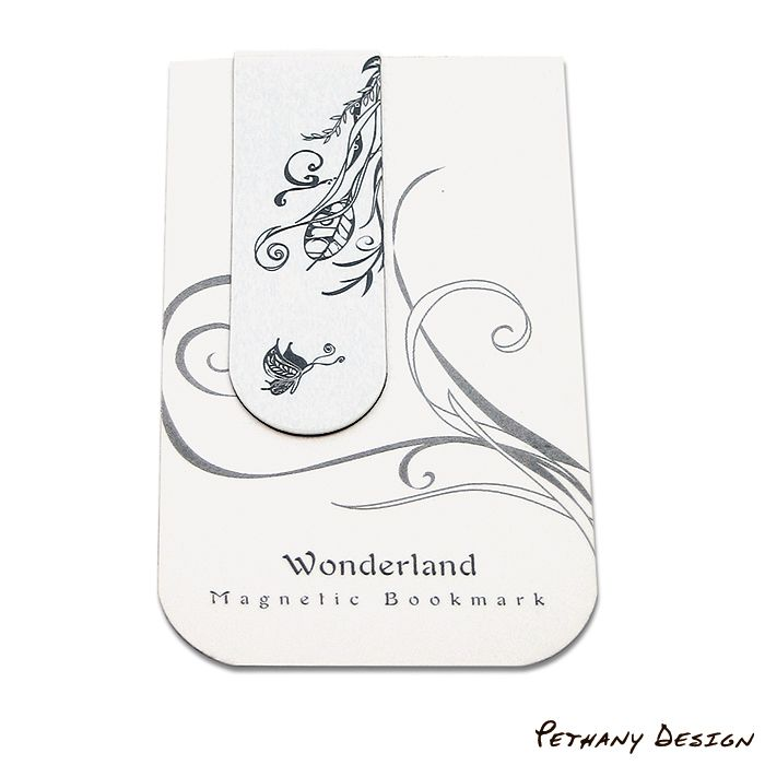 [ Wonderland Magnetic Bookmark ] Material: Paper, Magnet. Designed in 2005 for Pethany+Larsen. Made in Taiwan.