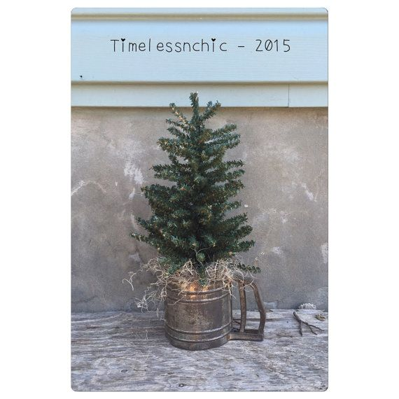 Decorative Tree  Rustic Decor  Flour Sifter  by TimelessNchic