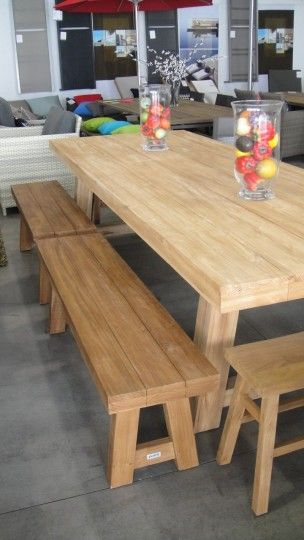 2 x 130cm block benches used on 3m block table Poynters