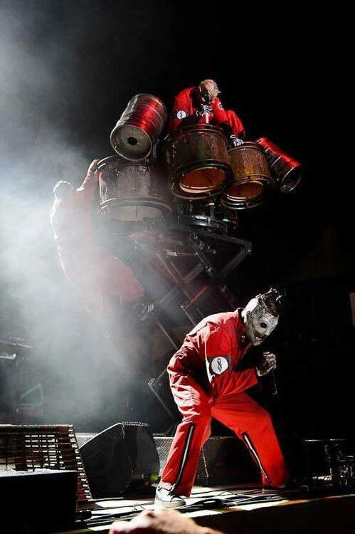 Slipknot Live not strictly clown but using the imagery