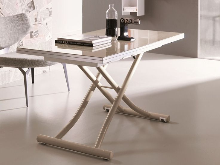 Table basse réglable en hauteur extensible MONDIAL CR by Ozzio Design   design Studio Ozeta