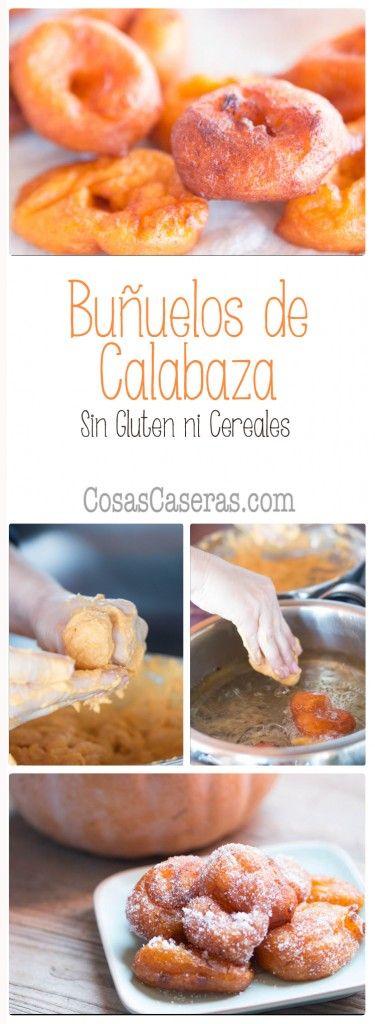 Los buñuelos de calabaza son muy típicos en la Comunidad Valenciana durante Las Fallas y otras fiestas. Os enseño hacer buñuelos de calabaza sin gluten.