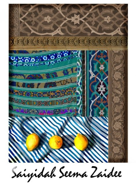 Checkout this amazing product ART, Still Life,Canvas Print,Large,36x36 Home Decor,Islamic Arabesque,Middle Eastern, Teal ,Blue,,$245