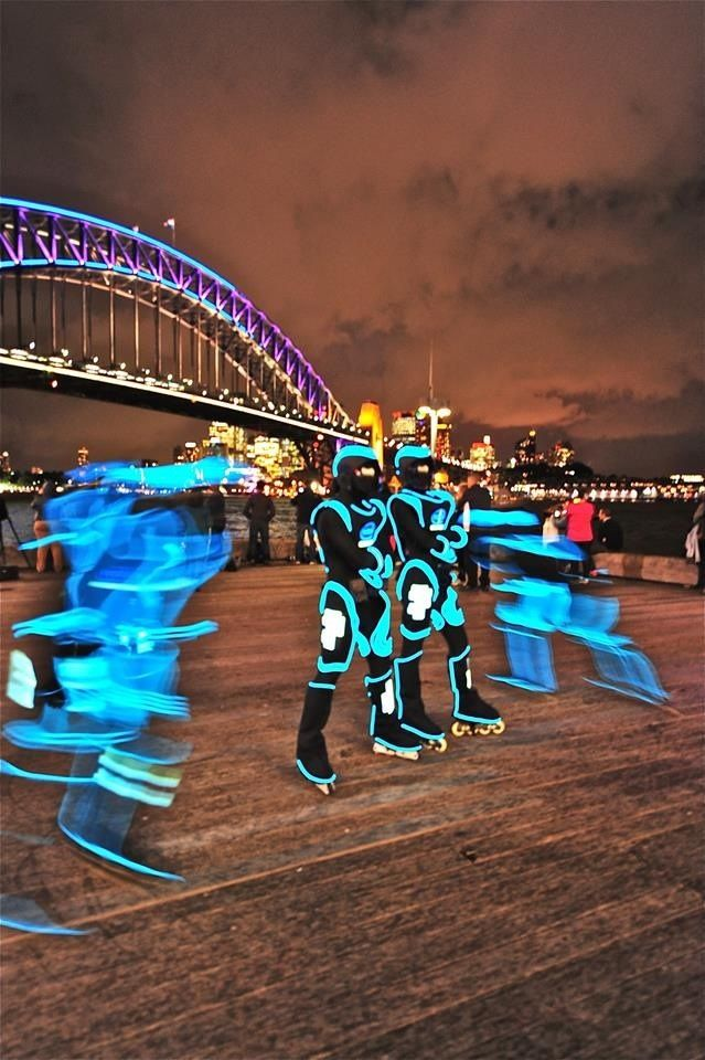 Best Images from Vivid Sydney 2013 so Far - Tron the Intel light warriors bringing a vivid light to the world, Paul Goulding