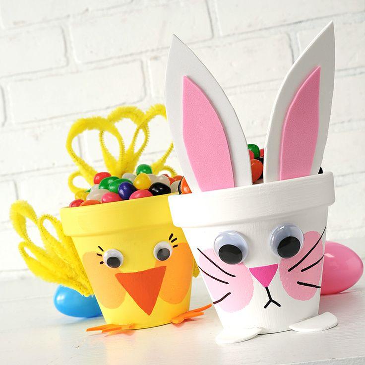 Plaid® Apple Barrel® Easter Flower Pots #easter #craft