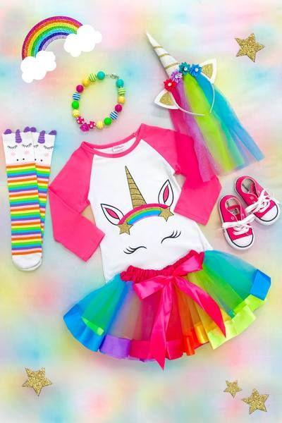 Hot Pink Unicorn Tutu Skirt Set