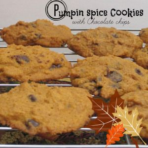 Pumpkin spice cookies with chocolate chips | Pumpkin Spice Cookies ...