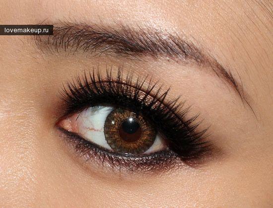 Макияж: уроки, идеи, правила: Бронзовый макияж для карих глаз