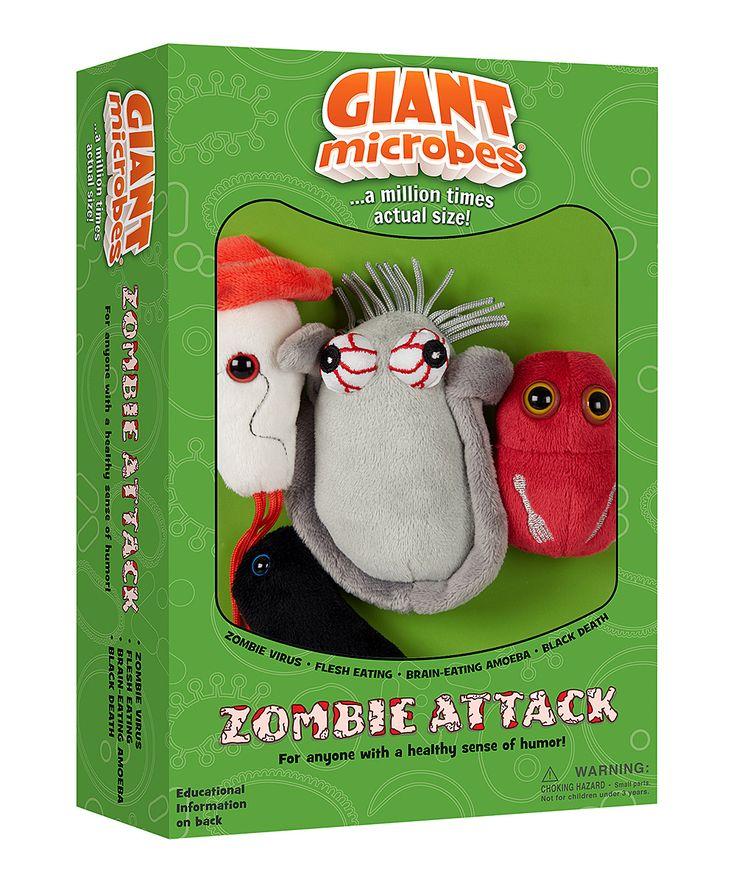 Zombie Attack Microbe Plush Toy Box