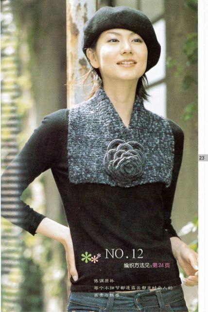 Patron Crochet Cuello Cuadrado - Patrones Crochet