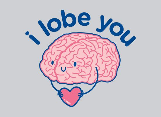 """""""I Lobe You"""" small tee--I usually hate puns, but this one has a cute 'lil brain holding a heart, therefore it's adorable. $19.95"""
