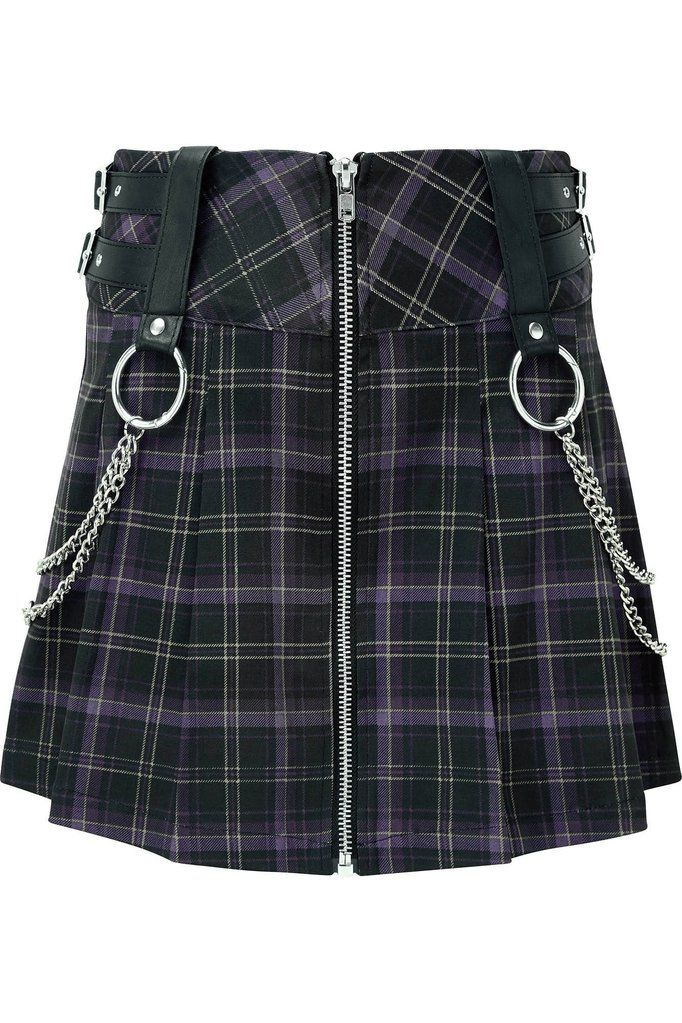 a095092daf Nancy Pleated Mini Skirt [TARTAN] | KILLSTAR - US Store If yer school had a  class in demonology, you would get an A++! The 'Nancy' pleated skirt is a  ...
