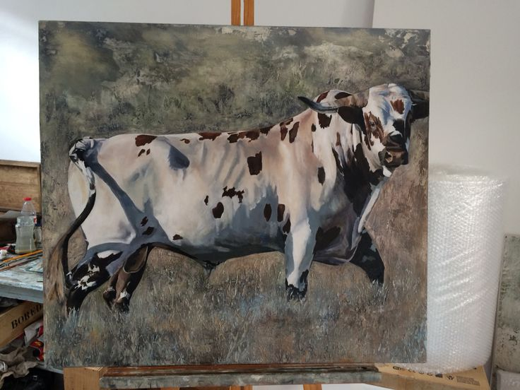 Nguni painting in oils