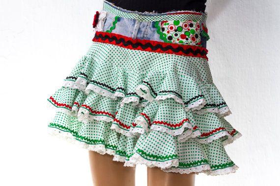 Urban Flamenco Miniskirt by MadeinFrigiliana on Etsy, €75.00