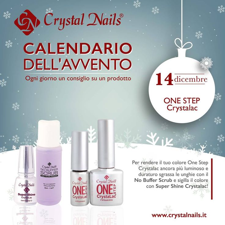 Calendario dell'avvento Crystal Nails - 14 dicembre #onestep #crystalnails #semipermanente