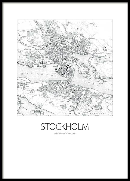 New York, print - 30x40Stockholms karta 1844, poster - 70x100Wonderful world, poster - 50x70...