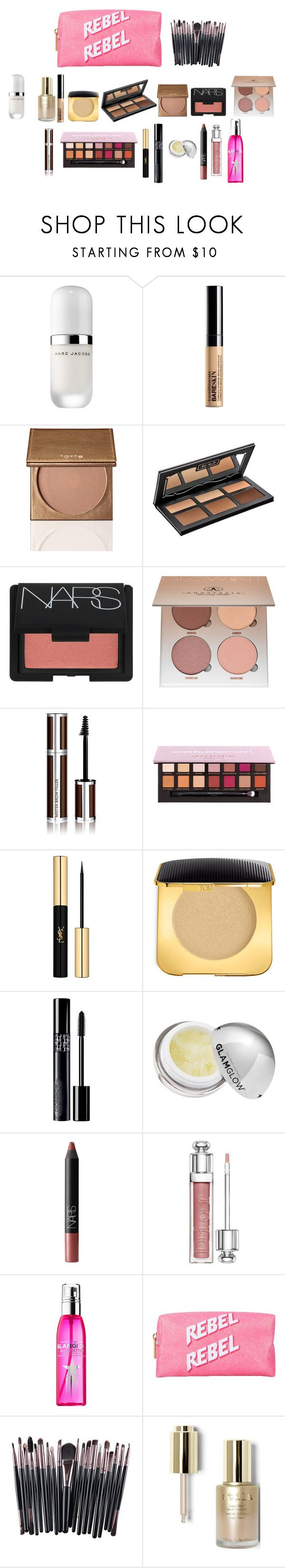 """""""wishlist"""" by thedoyenne ❤ liked on Polyvore featuring beauty, Marc Jacobs, Bare Escentuals, Kat Von D, NARS Cosmetics, Anastasia Beverly Hills, Givenchy, Yves Saint Laurent, Tom Ford and Christian Dior"""