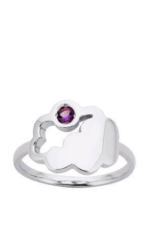 Cumulus Cloud Amethyst Ring
