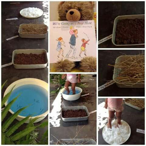 This is how we brought that all time favorite classic to life. We're going on a bear hunt. Follow us on Facebook https://m.facebook.com/Learning-through-play-toddler-activities-1647424328859886/