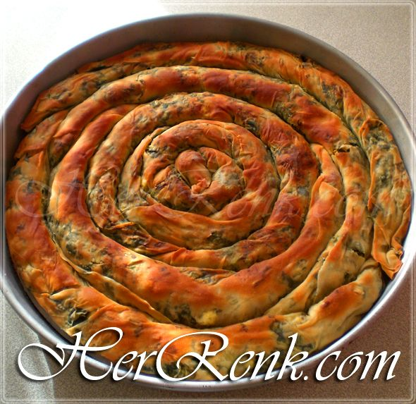 El Açması Ispanaklı Börek-elde açma börek…