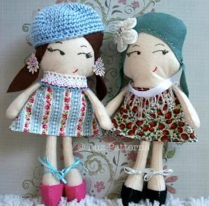 Luz Patterns's Pattern Store on Craftsy | Support Inspiration. #sewingpattern #dollpattern