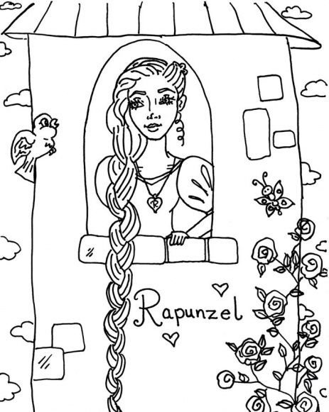 rapunzel coloring pages to print - 76 best fairy tales and mythology coloring pages images on