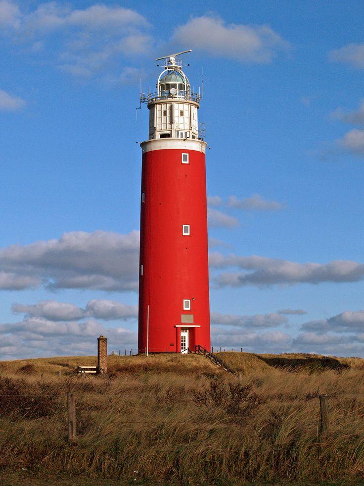 Lighthouse on the island Texel, Netherlands