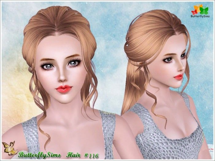 soccer hairstyles for girls : ... Hairstyles, Sims 3 Hairstyles, Sims Hairstyles, Butterfly Sims