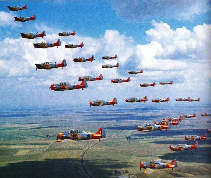 The first Harvards arrived in South Africa in October 1942 for use by the Joint Air Training Scheme schools. By July 1944, 633 Harvard Mk IIA and III aircraft had been shipped to South Africa, with 555 surviving in October 1945 (379 MkIIAs and 176 Mk IIIs). As the Harvards had been supplied on lend-leaseby the US, 300 were shipped back to the UK from 1946, with the remainder being purchased by South Africa.