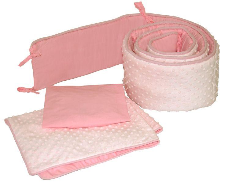 Dimple Velour 3 Piece Cradle Bedding Set