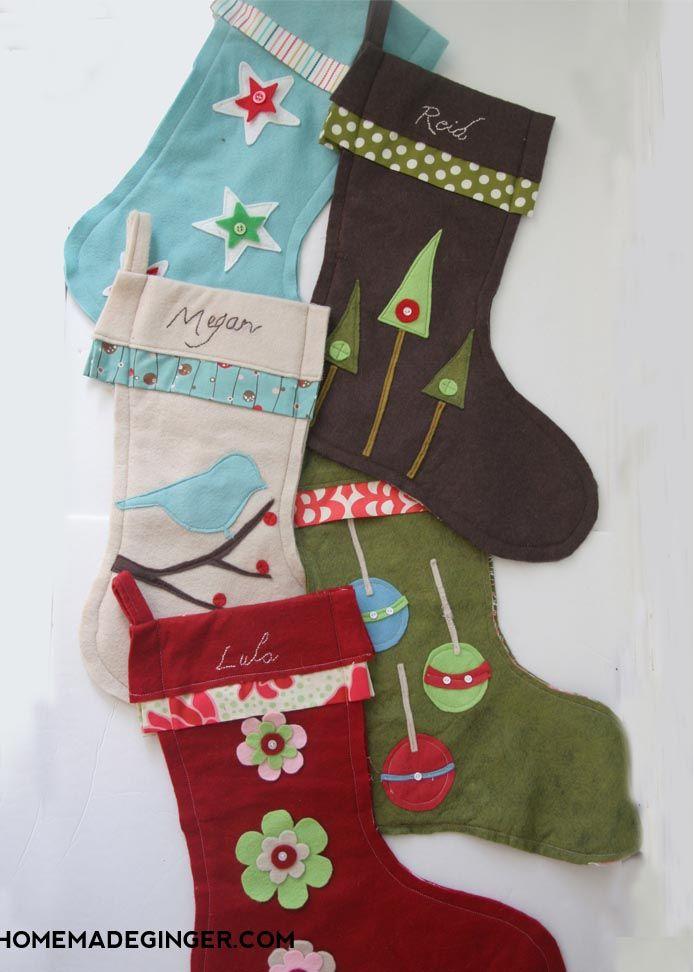 27 Free Diy Homemade Christmas Stockings Patterns And Tutorials Diy Christmas Stocking Pattern Diy Felt Christmas Stockings Christmas Stockings Diy