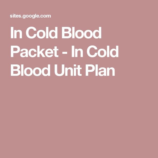 best in cold blood images clutter in cold blood  in cold blood packet in cold blood unit plan