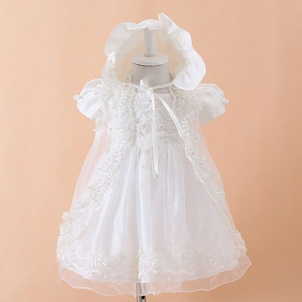 48.73$  Buy now - 2017 Summer New Baby Dress Birthday Princess Cotton Baby Vest Baptism Clothes Baby Clothes for 1 Years Old SKF154703  #SHOPPING